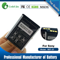 China Manufacture Quality 900mah Li-ion Mobile Phone BST-37 Battery For SONY W600/W700/W710/W800