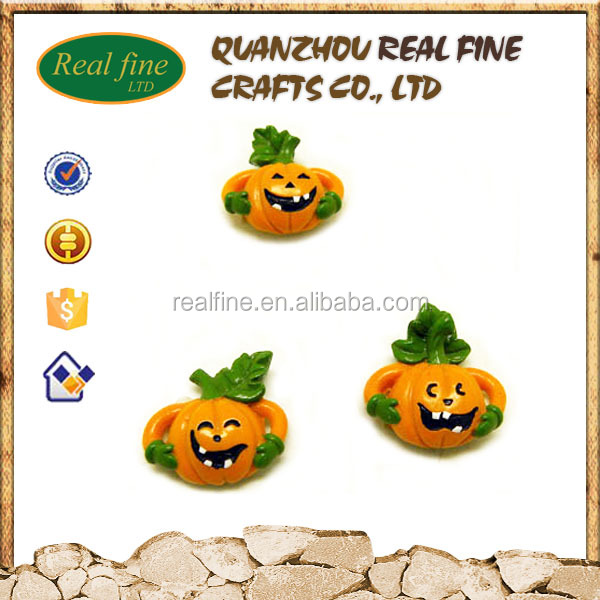 Custom Design Resin Pumpkin Fridge Magnet for Hallowmas