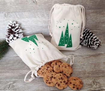 Christmas natural cotton cookies and candy gift gag