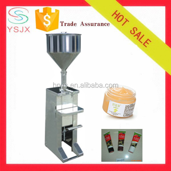 foot pedal cosmetic cream filling machine for bottle/jar/tube