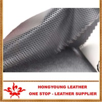 Popular Black perforation leather synthetic,cuero pu para hecho decoracion de sofa,silla,pare,piso