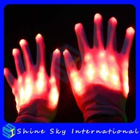 Festivals dance flashing party led gloves,flashing party led gloves factory lowest price skull glove