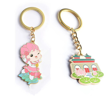 China factory custom sublimation printing cartoon Keychains for kids