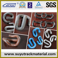 Railroad spring clip/Railway spring steel fasteners clip/China supplier rail clip
