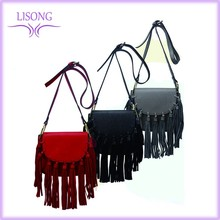 2016 Ladies designer high quality handbag OEM women's Bag fashion long tassel small shoulder bag