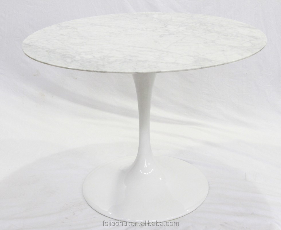 Eero Saarinen round tulip marble dining table