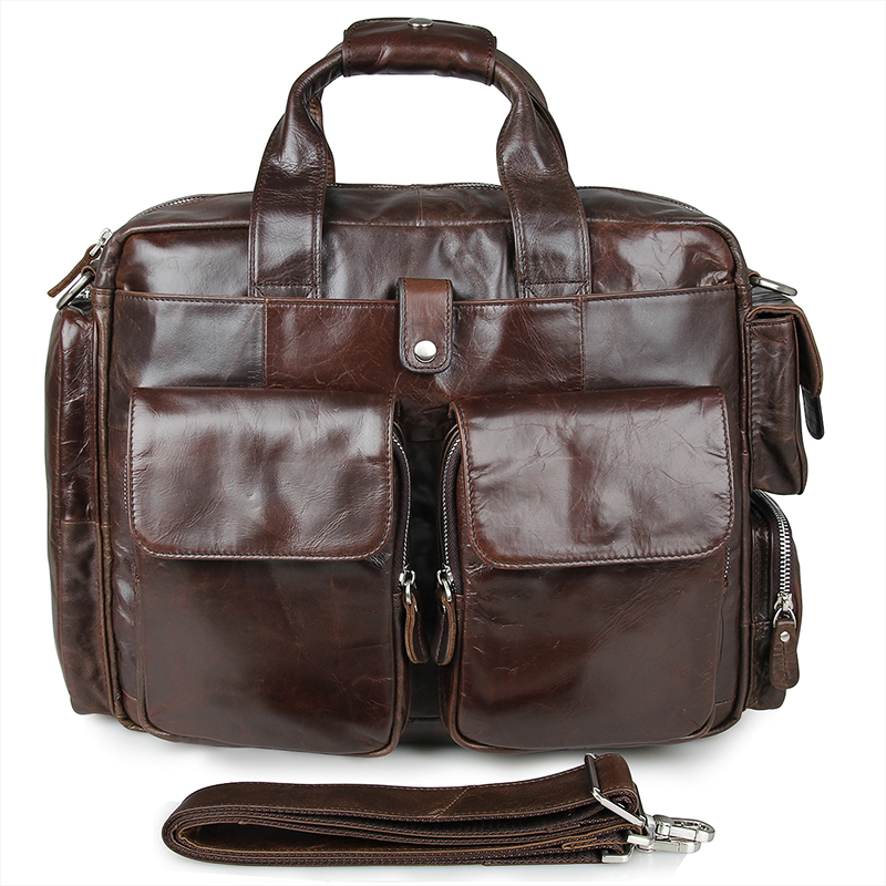 7219C JMD Vintage Real Leather Briefcase Laptop Bag For Men China Supply
