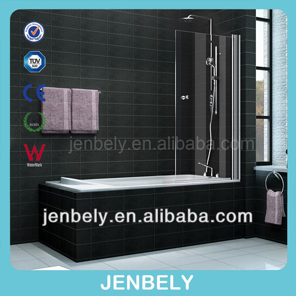 6mm 800x1400mm Handware Bathtub Shower Screen BL-034