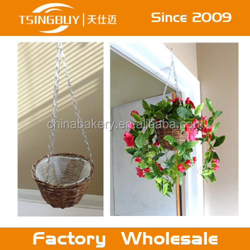 Made in China handcraft wicker/willow garden basket wire for garden home balcony