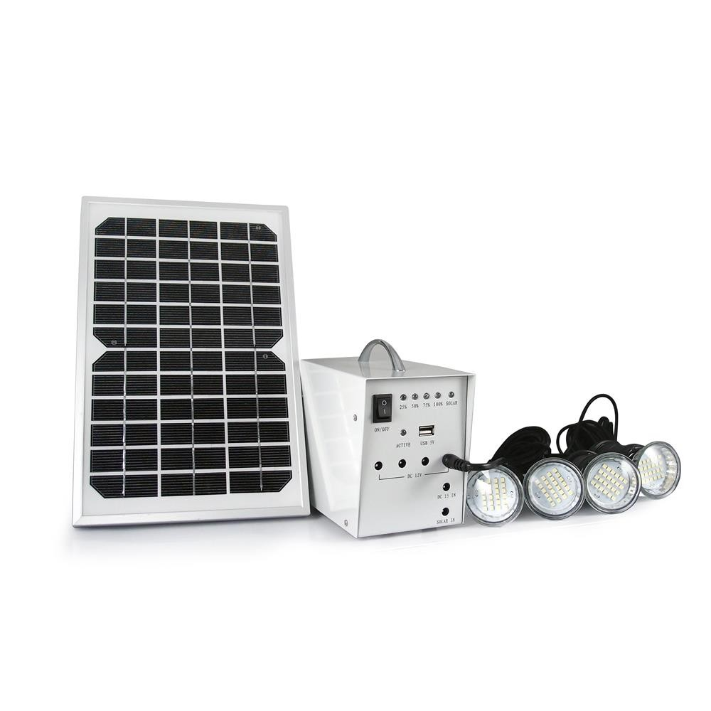 Portable Solar Power Kit Mini Project Use Complete Set Home Solar Lighting System With Led Bulbs
