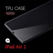 0.5mm Ultra Thin TPU Transparent Clear Protective Case for iPad Air 2