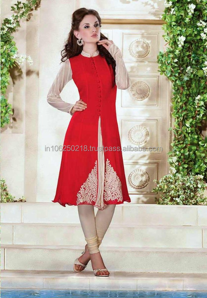 Indian designer anarkali suits cheap nylon cotton lace fabrics top quality cotton New Bollywood fashionest Designer kurti R1390