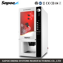 Sapoe automatic coin instant coffee and tea iced coffee vending machine