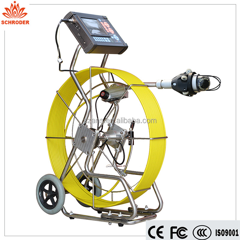 Schroder Auto Pan&Tilt Sewer Pipe Inspection Camera Pipe Inspection Robot Manhole Inspection Camera System Underwater Camera