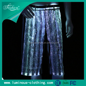 Luminous mens shorts led shorts for party wear light up dance shorts