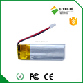 pos terminal rechargeable battery for 3.7V 120mAh small size lithium polymer battery 421133