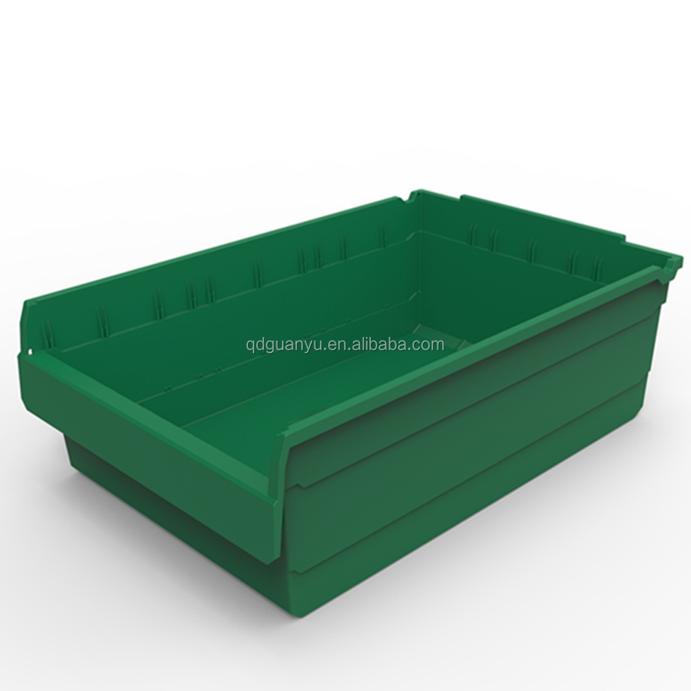 2017 popular shelf plastic bins warehouse storage boxes for industrial use