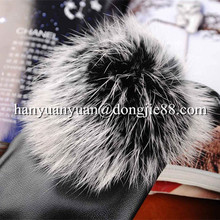 fineness and grace Real rabbit fur women leather gloves
