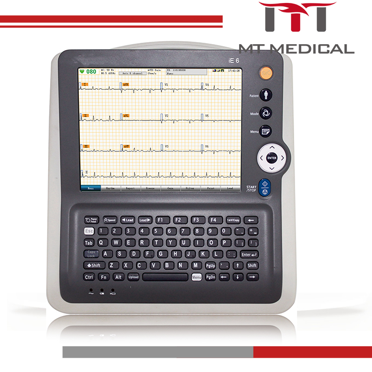 Touch screen digital 6-channel ECG machine