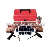 Tire seal insert string and repair tools kit