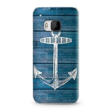 BUStyle anchor pattern for HTC one M9 mobiles covers wood case