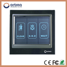Orbita hotel wall lcd touch screen light control switch