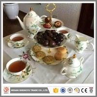 alibaba bulk porcelain tea set with factory price made in china