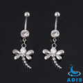 Factory supply beautiful dragonfly pendant belly navel ring for women