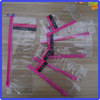 PVC cosmetics bag with slider zipper top cosmetics PVC bag