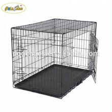 Wholesale Pet Cage Folding Black Metal Dog Crate For Animal