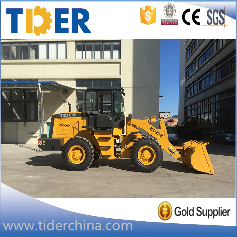 TIDER mini 3 ton zl30 boom wheel loader for sale