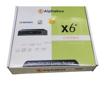 2017 newest Alphabox X6+ Combo Auto roll powervu DVB-T2/C/S2 Combo decoder with RF,Youtube,support CCCAM in stock