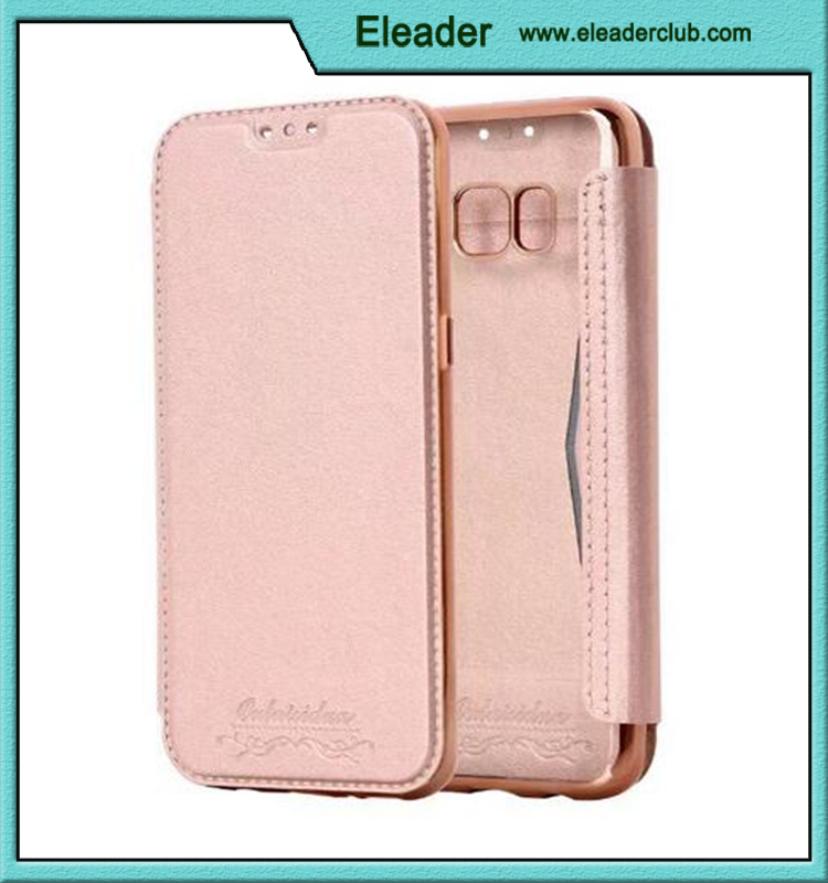 For samsung galaxy s8 leather flip case with soft back cover