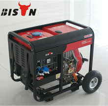 BISON(CHINA) Safety of Diesel Generator from China Supplier, 3 phase auto start diesel generator 5kw With Four Plastic Wheels