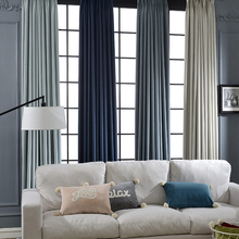 Elegant Solid Color Blackout Curtain Fabric for the Living Room Window Curtain