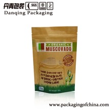 Stand Up Zipper Brown Kraft Paper Bag With Window For Dried Food/snack/nuts/tea Packaging
