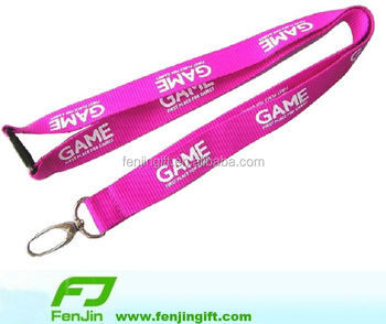 Customized printed promotional item lanyard