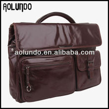 Hot selling vintage genuine leather lawyer briefcase for men 2017