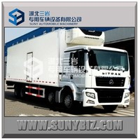 Sinotruck small 8x4 18000kgs 20000kgs diesel cooling truck refrigerated box truck