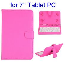 Litchi Texture Magnetic Flip Leather Universal Keyboard Case for 7 inch Tablet PC with Holder