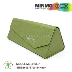 hot selling 2016 leather glasses case,triangle glasses case,sun glasses case