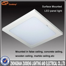 Office light surface mounted led panel light 300x300, 36w 50w 60cm x 60cm dimmable led panel light