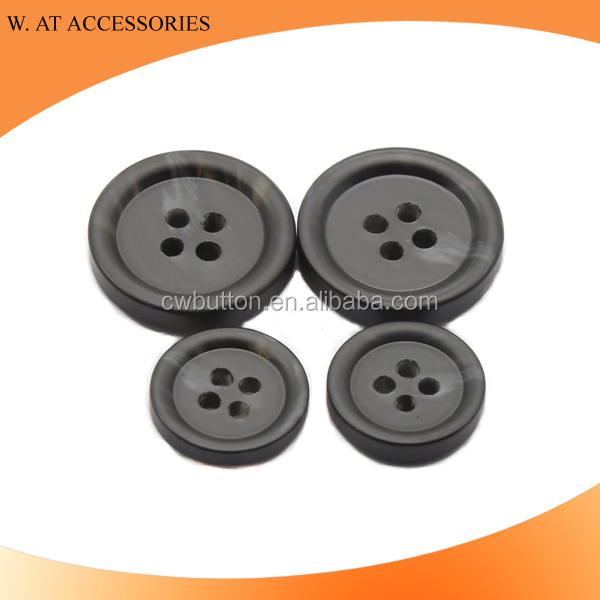 Wholesale black polyester buttons for garment accessories