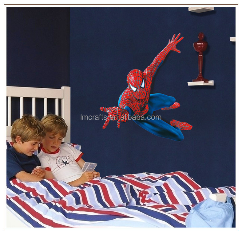 kies favorite Spiderman 3D Art Wall Decals/Removable PVC Wall stickers Mural For Boys' Room Decor AY1937