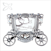 Crystocraft Luxury Chrome Plated Crystal Cinderella Carriage Photo Frame Wedding Gift