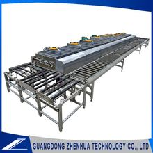 Personalized two layers nickel film sputtering glass mirror coating line for ceramic plate