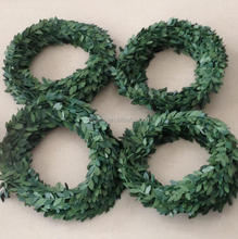 DEMIZXX562 Wholesale Custom Size Fashion Style Holiday Decorations Green Color Leaves Shape DIY Design Christmas Tree Garland