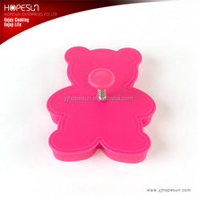 Hot sell newfangled plastic bear shape cookie cutter