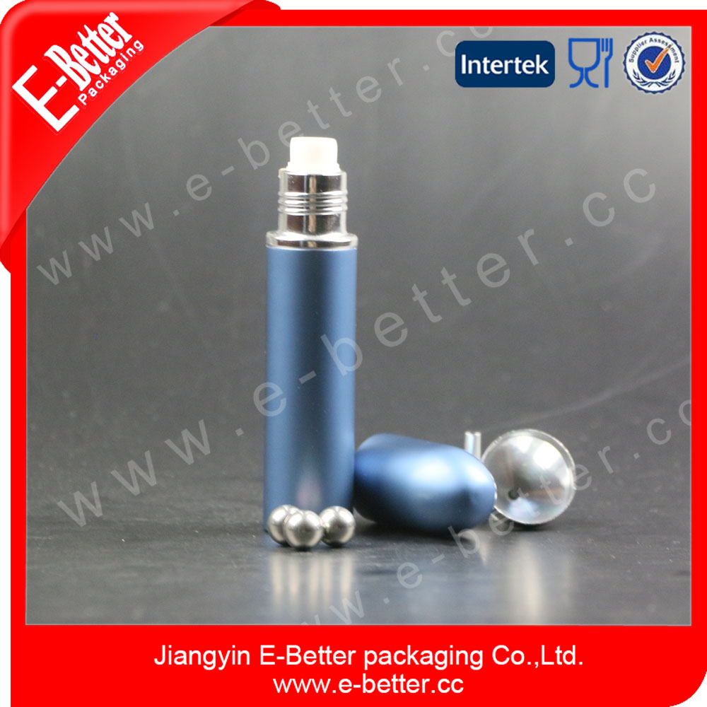 Colorful aluminium roll on empty recyclable perfume bottle high quality fragrance