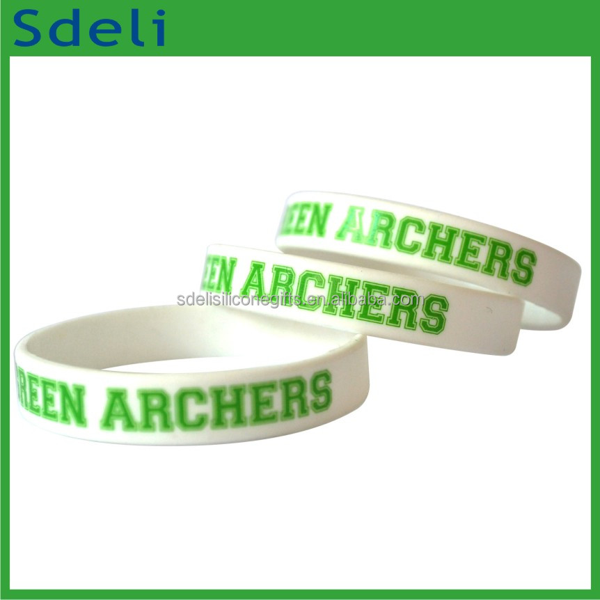 customized new fashion silicone wrist bands for company advertising